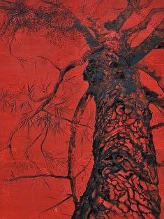 Sans Titre I - 2013 - Pigments de couleur, colle de cerf, encre de Chine sur panneau - 60,5 x 45,5 cm