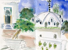 Mosquée Abderamane, carnet Alger, mai 2017