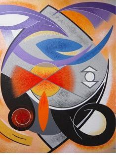"""""""Le cercle unit le haut et le bas"""" - 2014 (65x54cm)"""
