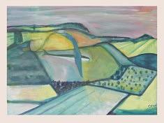 Moderne Landschaft IV, gouache sur papier, 76x56cm, 2019