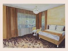 Zimmer, gouache sur papier, 100x70cm, 2018