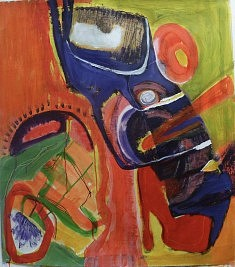 Liliane Delesque , peinture acrylique ,
