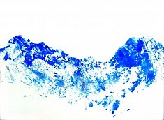 Bleu 3 - acrylique sur toile 60 x 80 cm