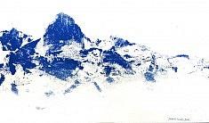 Bleu 6 - acrylique sur toile 27 x 46 cm
