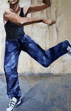 Danseur de rue Huile ( 54 x80=
