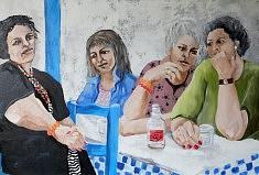 Après le pélerinage à Tinos Huile sur toile (80 x 54)