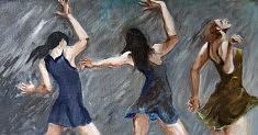 Danseuses Huile sur toile (80 x 40)