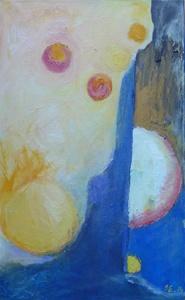 Sortie de l'ombre -2014 - technique mixte sur toile - 55cm x 33cm