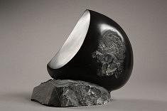Black moon. marbre noir de Belgique, 35 cm, 2008