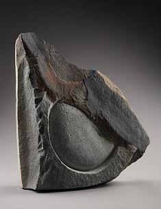 Nuage et lune. grés du Vietnam, 35 cm,2009