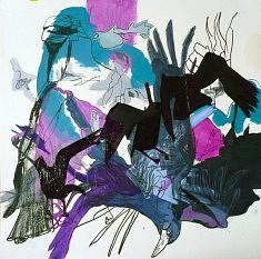 Les Oiseaux 11 - techniques diverses sur papier (40 x 40 cm)