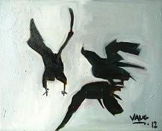Les Oiseaux 9 - huile sur toile