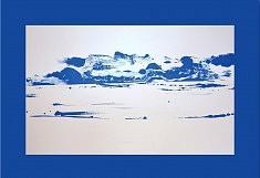 Bleu 3 - acrylique sur papier 80 x 60 cm