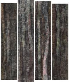 LA NUIT DEVAIT ÊTRE DOUCE, 2014, quadriptyque 180 x 218 cm – papier, encre