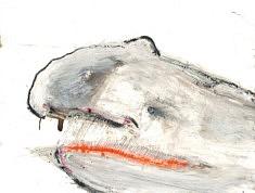 Moby-Dick - Café, gesso et pastel gras sur papier cartonné - 32x24,5 – 2018