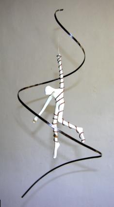 Spirale et fil de cuivre, 50 x 25 cm