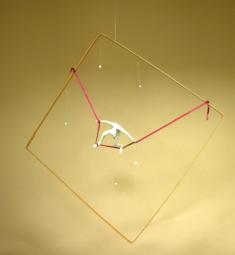 Sur le fil, 42 x 42 cm