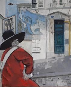 """Série Belleville-Vermeer, """"Le Cavalier"""", 55x46cm"""
