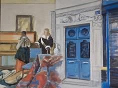 """Série Belleville-Vermeer, """"La Musique"""", 50x65cm"""