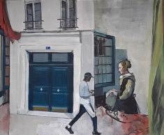 """Série Belleville-Vermeer, """"La lettre"""", 60x73cm"""