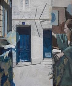 """Série Belleville-Vermeer, """""""", Géographie"""", 55X46cm"""