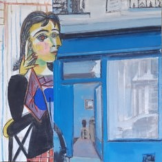 """Série Belleville-Picasso """"Dora M."""", 35x35cm"""