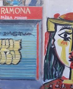 """Série Belleville-Picasso """"Ramona"""", 27x22cm"""