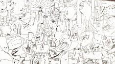Déclassification universelle (extrait) - feutre sur carton - 65x50cm - 2019