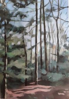 """2020, """"Planter des arbres, Limousin (3)"""", 54x38cm"""