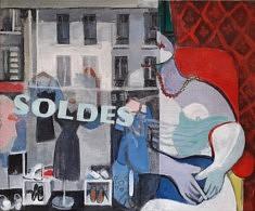 """Série Belleville-Picasso """"Les soldes"""", 38x46cm"""