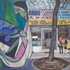 """Série Belleville-Picasso """"impression"""", 50x50cm"""