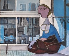 """Série Belleville-Picasso """"La Piscine"""", 38x46cm"""
