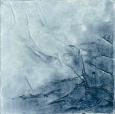 """n°7 """"Aquatic memorys""""  toile 20X20 techniques mixtes"""