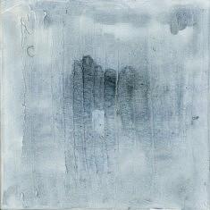 """n°2 """"Aquatic memorys""""  toile 20X20 techniques mixtes"""