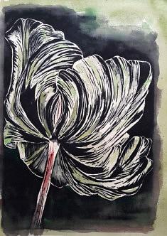 Impression végétale sur papier, 40 x 30 cm, 2021