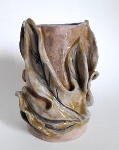 Petit vase, terre cuite émaillée, hauteur 18 cm, 2021