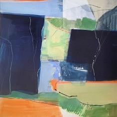 2021. Peindre(d), peinture/médium, 100x100 cm
