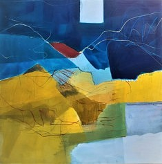 2021. Peindre(b), peinture/médium, 100x100 cm