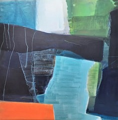 2021. Peindre(c), peinture/médium, 100x100 cm