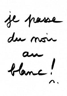 Michele Forgues, Je passe du Noir Au Blanc