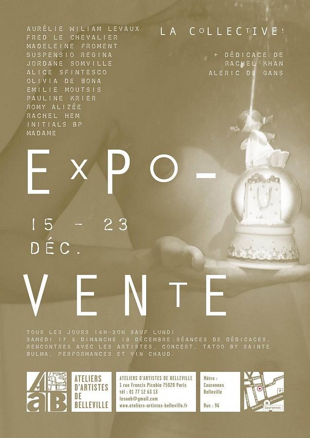 Affiche Expo-vente Noël 2016 aux AAB