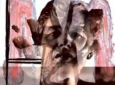 Hans Bouman, Willem De Kooning (Série créateurs), 30x40, Tirage numérique et peinture sur papier.