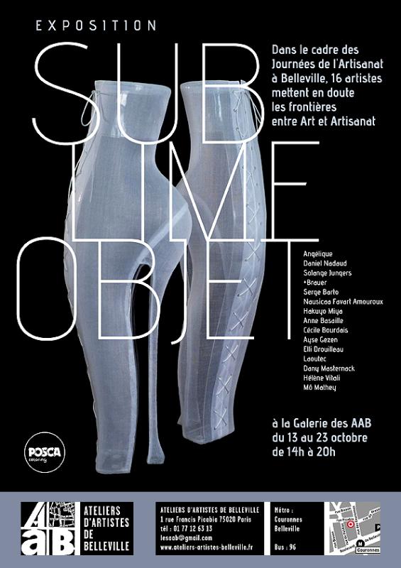 Exposition Sublime Objet, affiche