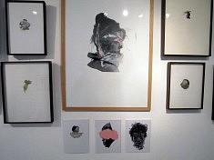 Dessins et collages de Maxime Lemoyne (photo Loïs Pommier)