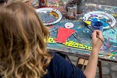 Jeux de peinture (photo Dagmara Bojenko)