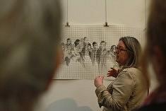 Josette Vigneau présente son travail, photo Katelia
