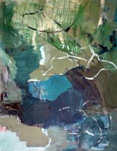 Anne Catoire, Sans Titre (Pigments et Colle Sur Papier Marouflé Sur Toile, 65x50cm)