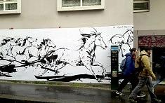 Exposition Traversée, le mur de Cyril Réguerre