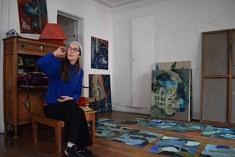 Dans l'atelier d'Anne Catoire (photo Noémie Brancard)