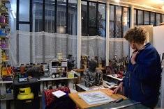 Dans l'atelier de Nicole Pavlowsky (photo Noémie Brancard)
